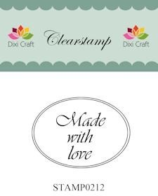 Dixi Craft - Clearstamp - Made with love - Ovaal