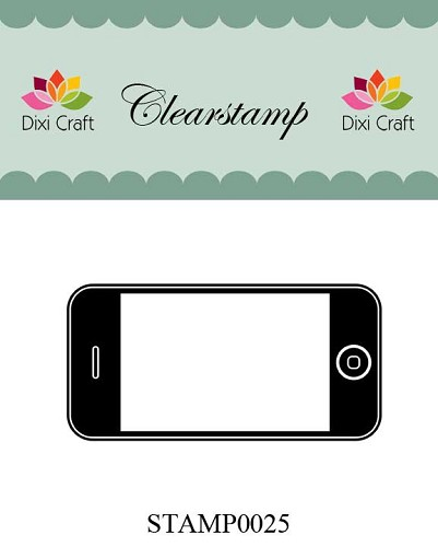 Dixi Craft - Clearstamp - Mobiel