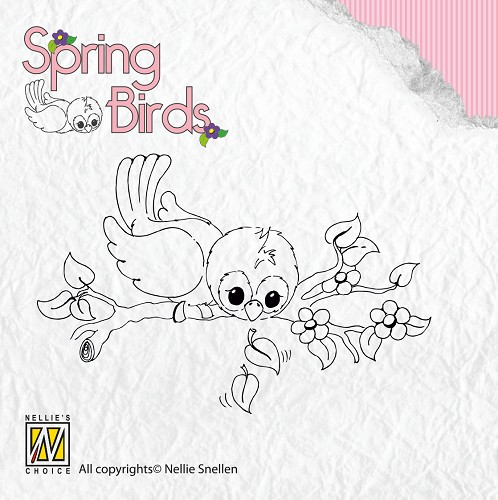 Nellie Snellen - Clearstamp - Spring-birds Ready to fly away