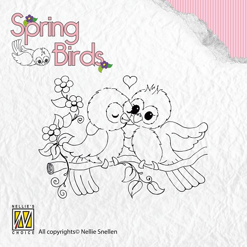 Nellie Snellen - Clearstamp - Spring-birds Spring-love