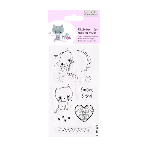 DoCrafts - Mini Clear Stamp - Little Meow - Someone Special