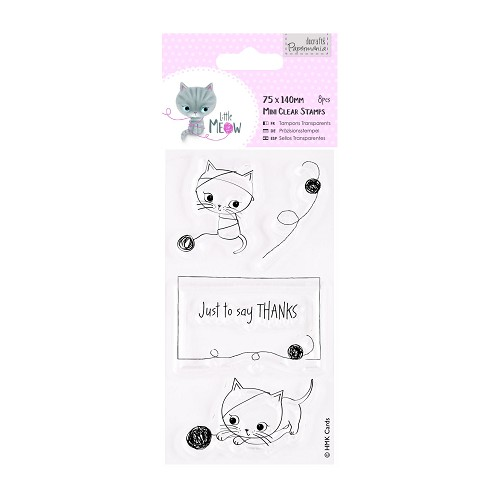 DoCrafts - Mini Clear Stamp - Little Meow - Just to Say