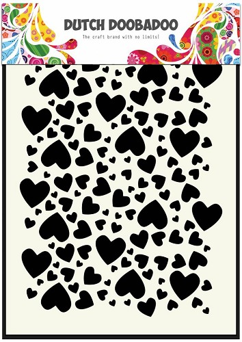 Dutch Doobadoo - Dutch Mask Art - Hearts