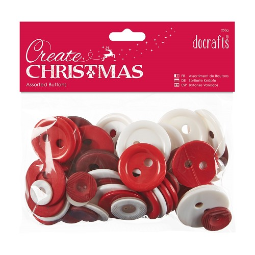 Assorted Buttons (250g) - Nordic Christmas