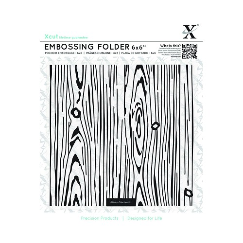 6 x 6 Embossing Folder - Woodgrain
