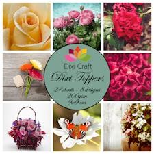 Dixi Craft - Toppers - Flowers - Color
