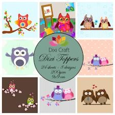 Dixi Craft - Toppers - Owls - Color