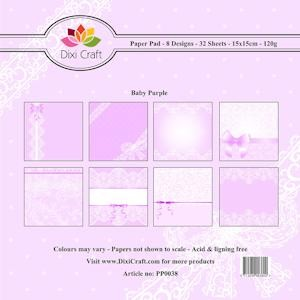 Dixi Craft - Paperpack - Baby - Purple