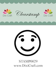 Dixi Craft - Clearstamp - smiley 1