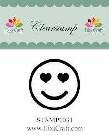 Dixi Craft - Clearstamp - smiley 3