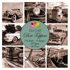 Dixi Craft - Toppers - Cars - Sepia