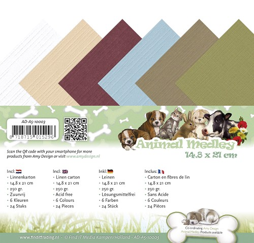 Amy Design - Linnenpakket - A5 - Animal Medley