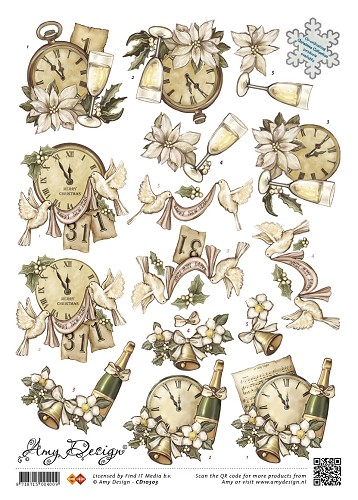 Amy Design - Amy Design Kerst -Clocks and Bells