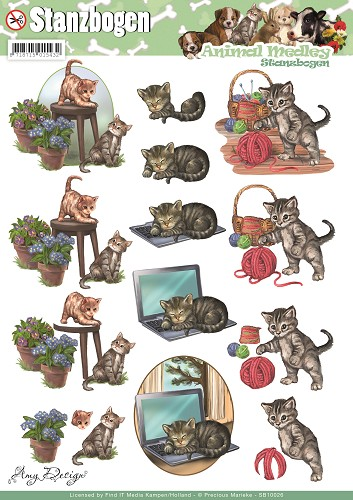 Amy Design - 3D Pushout - Animal Medley - Cats
