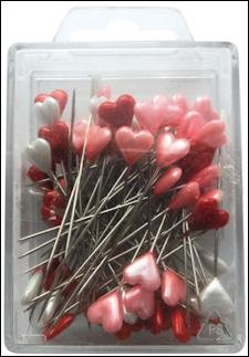 Marianne Design Heart pins red-white-pink 80 stuks