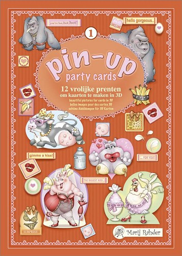 Marij Rahder - Pin-up Party Cards - Nr. 1