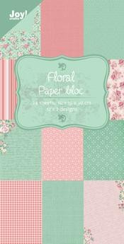 Joy!Crafts - papierblok - floral (groen)