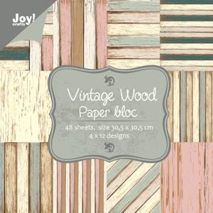 Joy!Crafts - Papierblok - Vintage wood