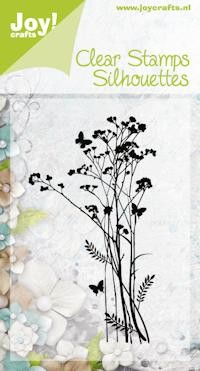Joy!Crafts - Clear Stamps - Silhouettes - Bloem 1