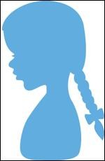 Marianne Design - Die - Creatables - stencil silhouette girl with braids