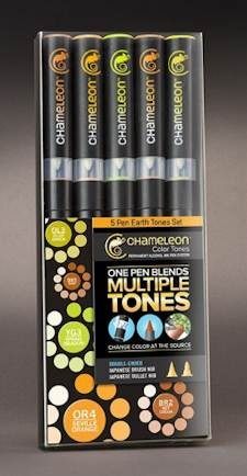 Chameleon 5-pen set Earth Tones