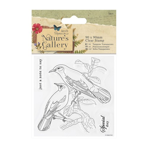 90 x 90mm Clear Stamp - Nature's Gallery