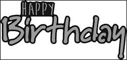 Marianne Design - Die - Craftables - Happy birthday