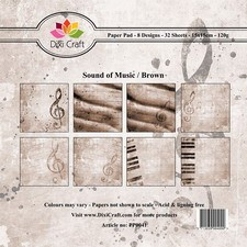 Dixi Craft - Paperpack - Sound of Music - Brown