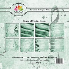 Dixi Craft - Paperpack - Sound of Music - Green