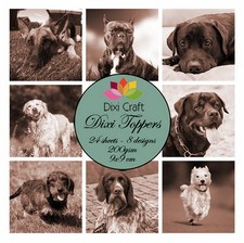 Dixi Craft - Toppers - Dogs - Sepia
