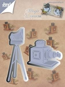 Joy!Crafts - stencil fototoestel - toverlantaarn Cutting & Embossing