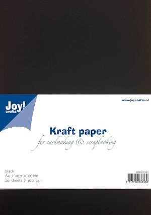 Joy!Crafts - Kraft papier - zwart