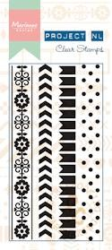 Marianne Design - Clearstamp - Border - dots Project NL