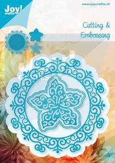 Joy!Crafts - Cutting & Embossing - stencil cirkel met bloem