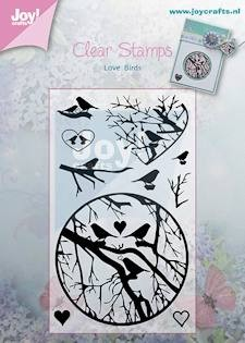 Joy!Crafts - Clear Stamps - takken met vogels 60 x 100 mm