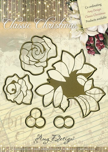 Amy Design - Die - Classic Christmas - Roses