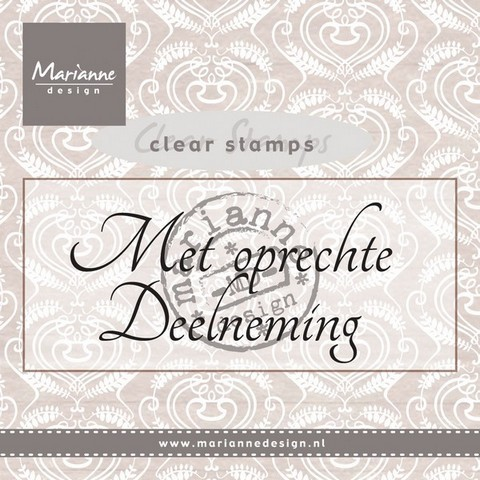Marianne Design - Clearstamp - Met oprechte Deelneming