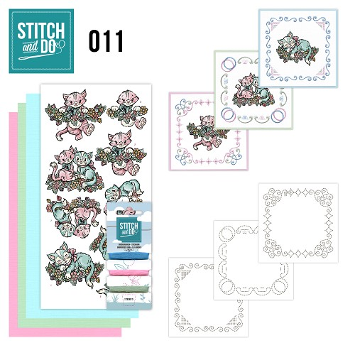Card Deco - Stitch and Do - Borduurset 11 - Katjes