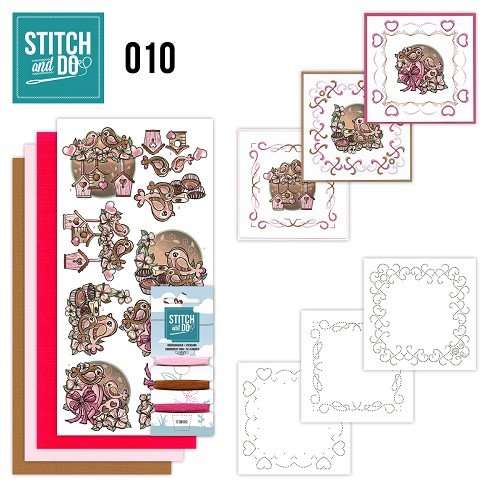 Card Deco - Stitch and Do - Borduurset 10 - Moederdag