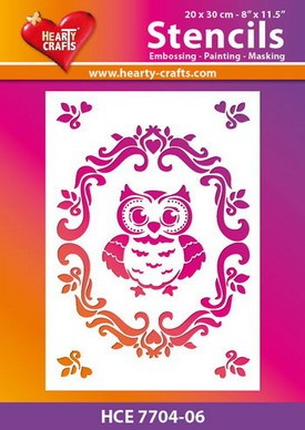 Hearty Crafts - Stencil - Uiltje in lijst