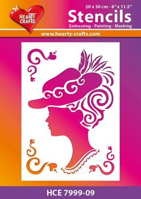 Hearty Crafts - Stencil - Vrouw