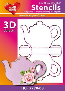 Hearty Crafts - Stencil - tea time 21 x 30 cm