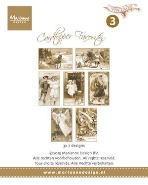Marianne Design - Card toppers sepia favourites Vintage 150 grs 7x3 designs