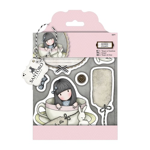 DoCrafts - Rubber Stamps - Santoro - Gorjuss - Sweet Tea