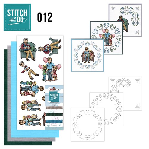 Card Deco - Stitch and Do - Borduurset 12 - Vaderdag