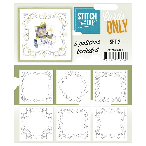 Card Deco - Stitch & Do - Cards only - Set 2