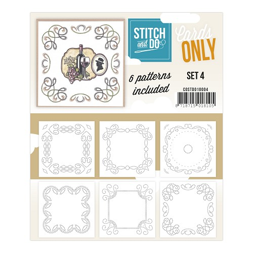 Card Deco - Stitch & Do - Cards only - Set 4