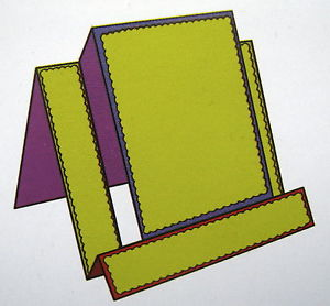 Crafts-Too - Die Cutting stencil step card incl magneetvel 15x29 cm