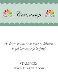 Dixi Craft - Clearstamp - Nederlandse tekst