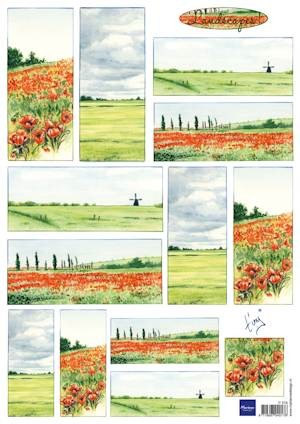 Marianne Design - knipvel Tiny`s landscapes 1 Red